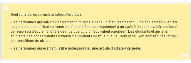 Sont considérés comme artistes-in...