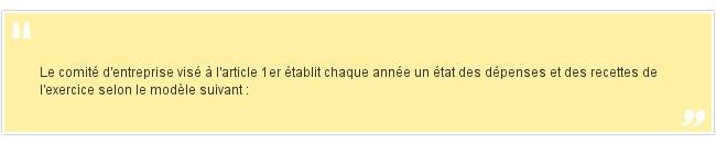 <br /> Le comit&eacute; d'entreprise vis&eacute...
